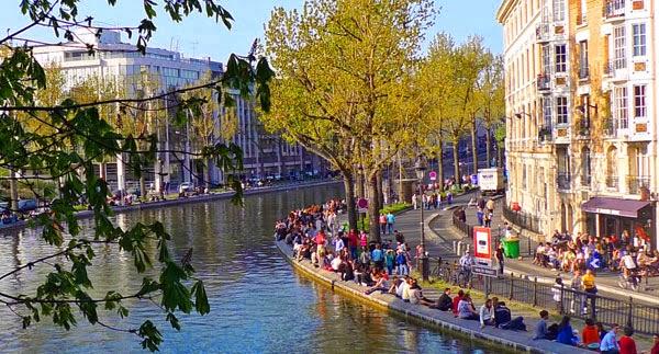 Canal Saint Martin em Paris