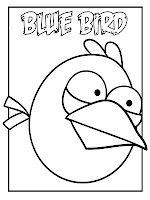Angry Birds Blue Bird Printable Kids Coloring Pages