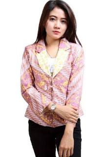 Model baju batik wanita terbaru untuk kerja
