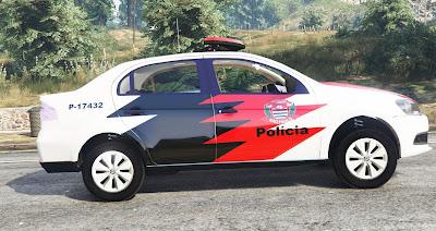 Volkswagen Voyage Policia Civil SP para GTA 5 - Lateral