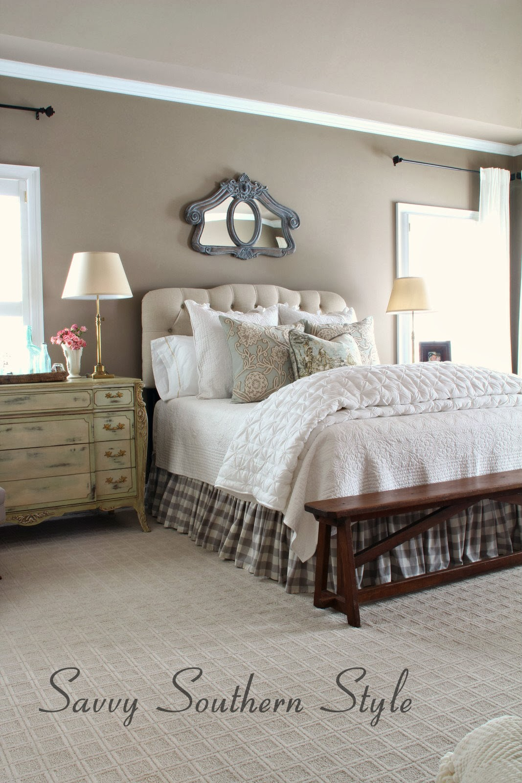 Southern Farmhouse Bedroom Ideas: Savvy Southern Style : Adding French Farmhouse Style In