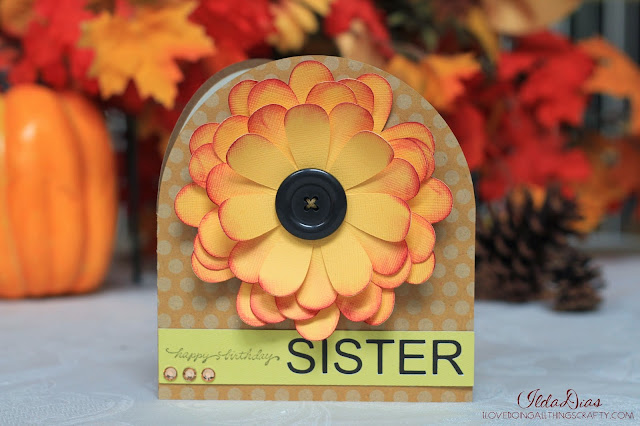 Fall Flower Birthday Card | SVGCuts File