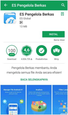 Aplikasi Android mengirim/transfer file tanpa kabel