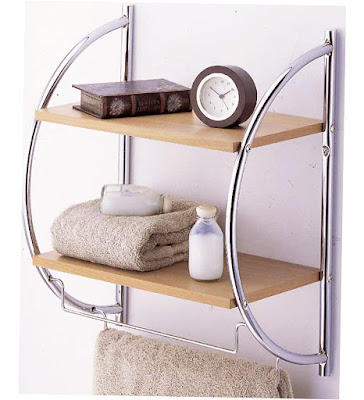 Bathroom Towel Storage Ideas Uk 2 Tier Wood Mounting Shelf With Towel Bars Pic 009