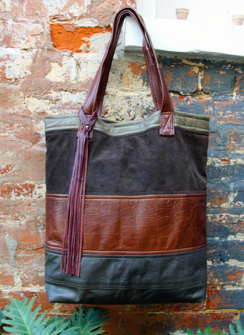 New Orleans Harley Davidson >> Uptown Redesigns: Newly Upcycled Leather Bags in a Beautiful New Orleans Courtyard