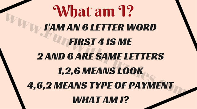 """Word Puzzle """"What am I""""?"""
