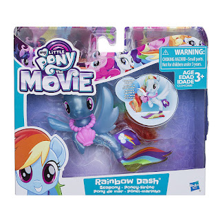 My Little Pony Movie Land and Sea Fashion Seapony Brushable Rainbow Dash 2