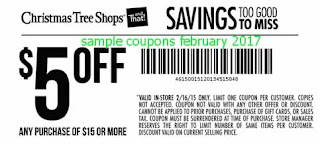 free Christmas Tree Shops coupons february 2017