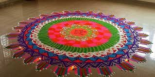 Rangoli Designs For Diwali With Colors