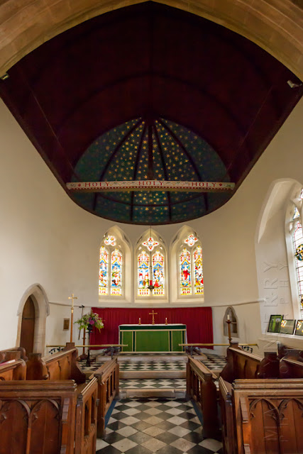 Church interior of St Peter's in the Oxfordshire Cotswolds by Martyn Ferry Photography