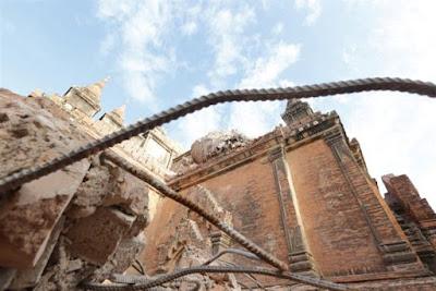 Μεγάλες οι ζημιές στις παγόδες του Μπαγκάν