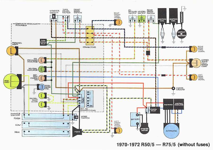 BMW R505R755 197072 Motorcycle Wiring Diagram | All