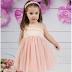 Pink baptism dress K4145