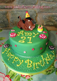 Lion king pumbaa cake