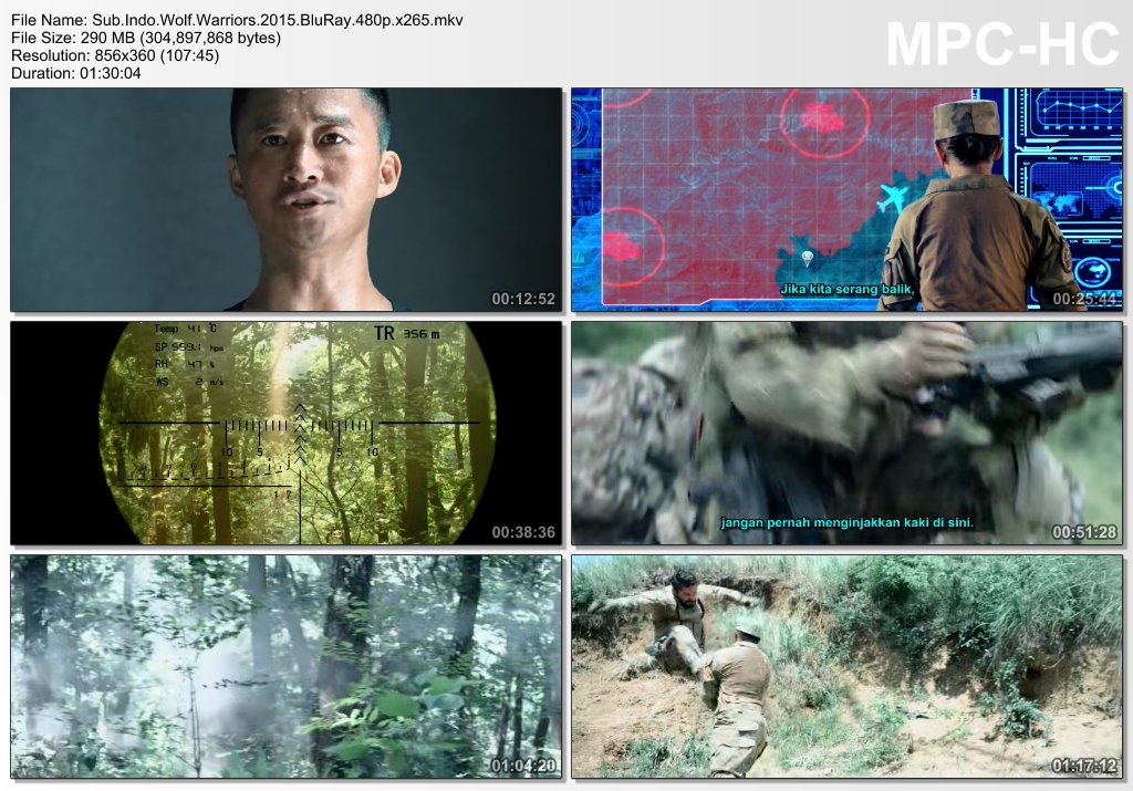 Screenshots Download Film Gratis Wolf Warrior (2015) BluRay 480p MP4 Subtitle Indonesia 3GP Nonton Film Gratis Free Full Movie Streaming