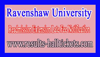 Ravenshaw University Readmission Extension Late Fee Notification