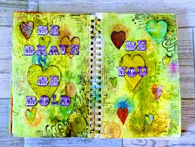 main image of art journal layout