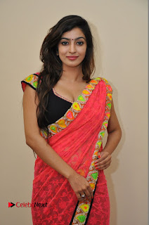 Actress Vaibhavi Joshi Pictures in Red Saree at Guntur Talkies 2 Movie Opening  0046.JPG