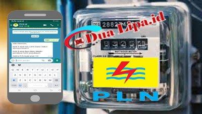 Cara lapor angka meteran listrik PLN lewat whatsapp
