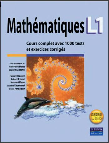 Mathématiques L1 : Cours complet avec fiches de révision,1000 tests et exercices corrigés