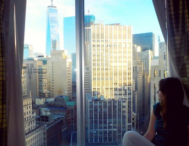 Výhľad na Manhattan z našej izby