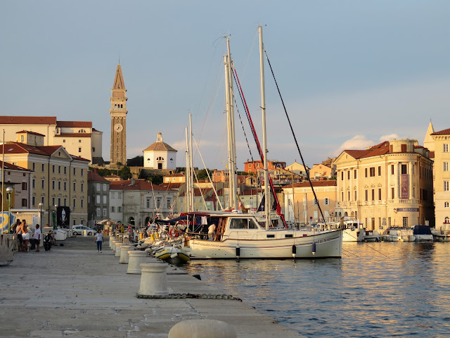 Piran harbour during the Golden Hour