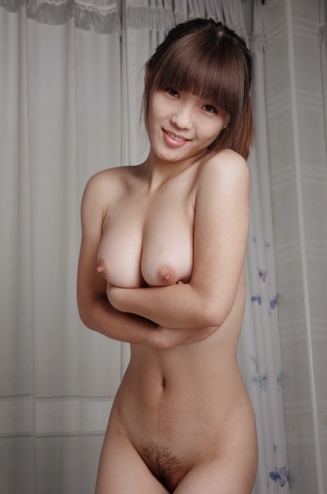 Hairy Pussy Of Naked Asian Girl