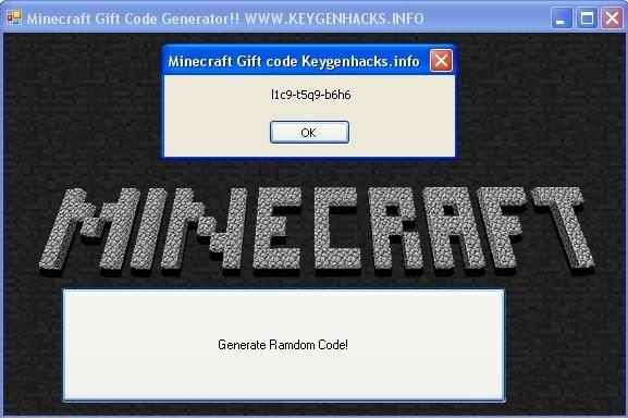 MineCraft Gift Code Keygen: Minecraft Gift Code Generator