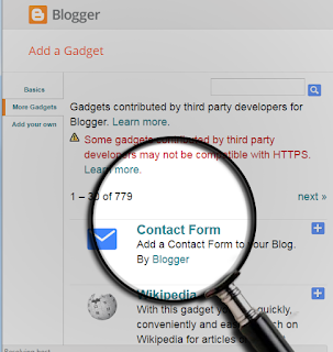 How to add a contact form widget to blogger step 4