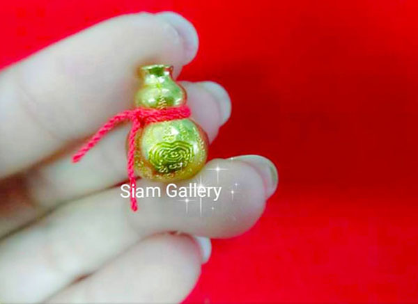 Millionaire Gourd (Hu Lu) Holy Metallic Alloy Magic Amulet For Prosperity, Longevity & Abundance