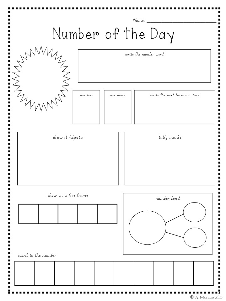Printable Worksheets tally mark worksheets for first grade : School Is a Happy Place: Number of the Day for the Year: FREE Math ...