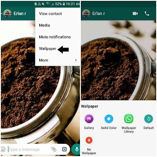 Cara mengubah wallpaper whatsapp via chat