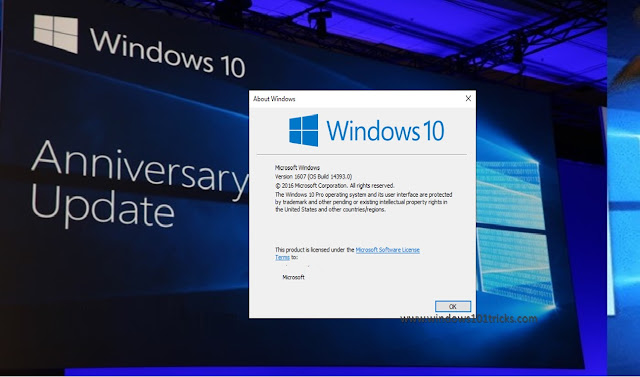 New features and changes on windows 10 Anniversary update version 1607 build 14393