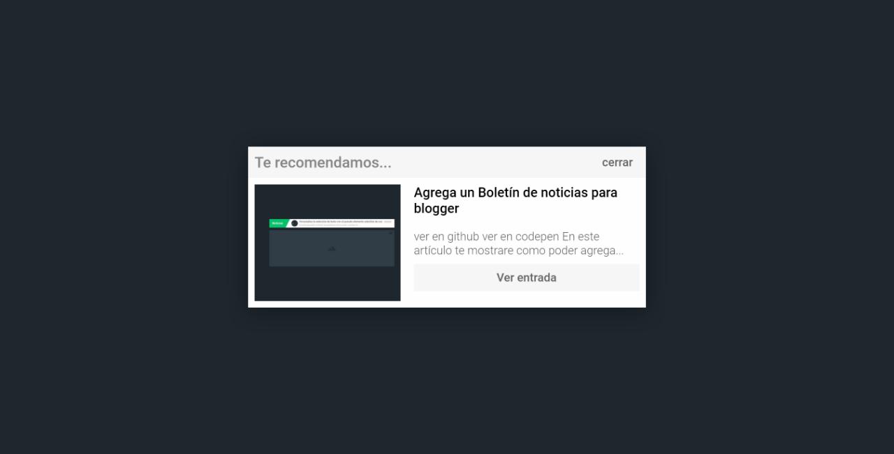 Agrega un Boletín de noticias para blogger