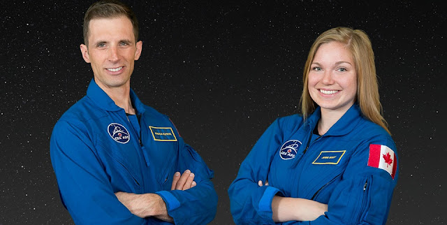 Canadian Space Agency Astronauts Joshua Kutryk and Jennifer Sidey. (Credit: Canadian Space Agency)