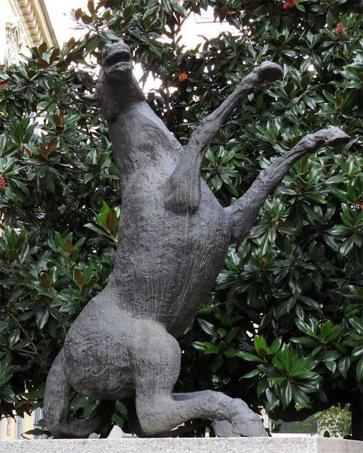 "Grande Cavallo Impennato"" (Rearing Horse) by Aligi Sassu, Via Brera, Milano,"