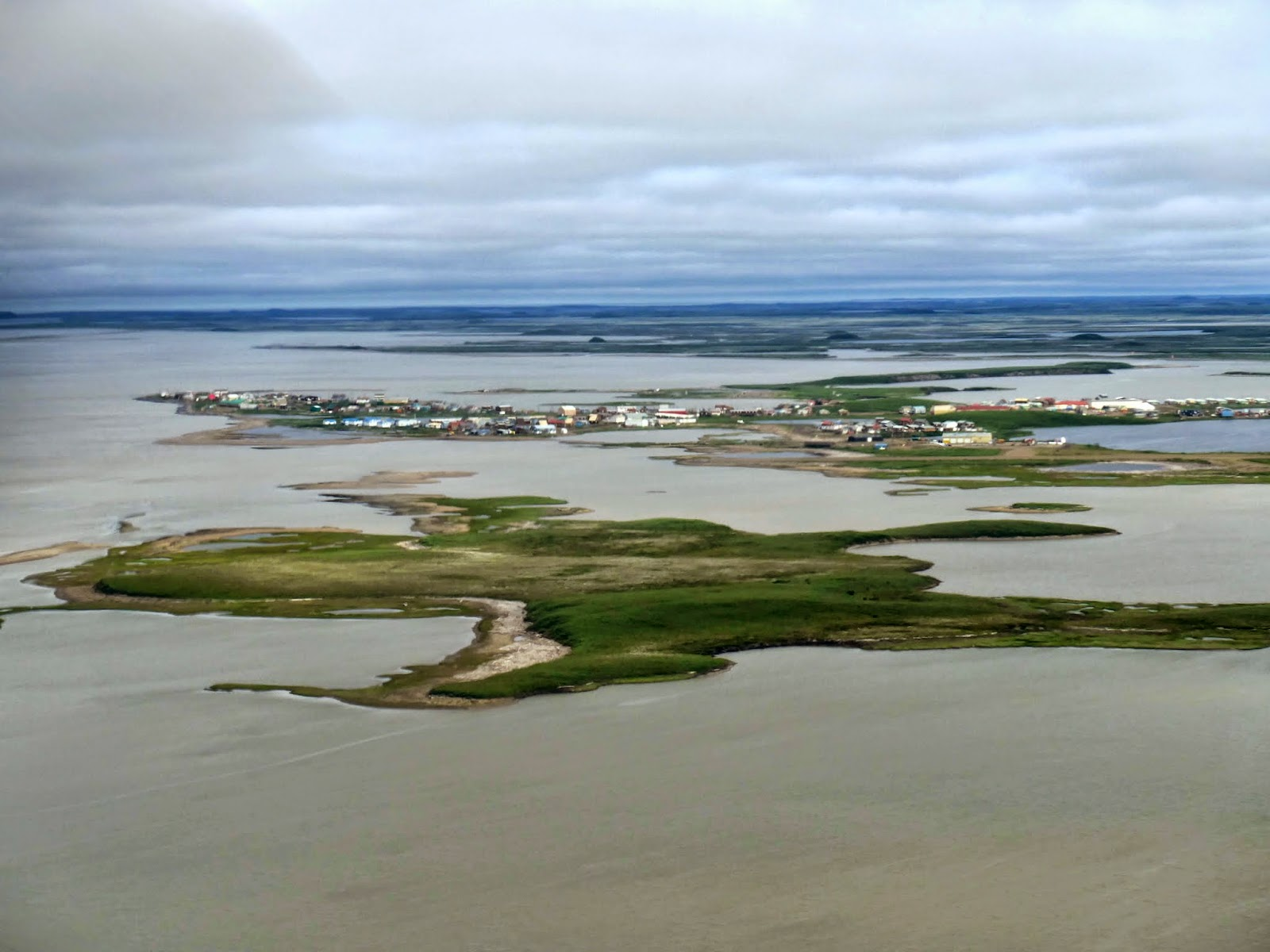 Tuktoyaktuk from the air