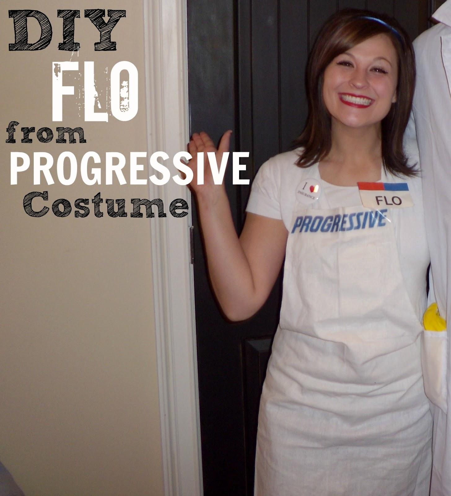 DIY Halloween Costume: Progressive Insurance Flo