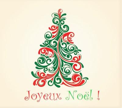 Simple carte de vœux joyeux Noël gratuite