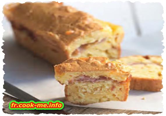 Cake au fromage et au lard