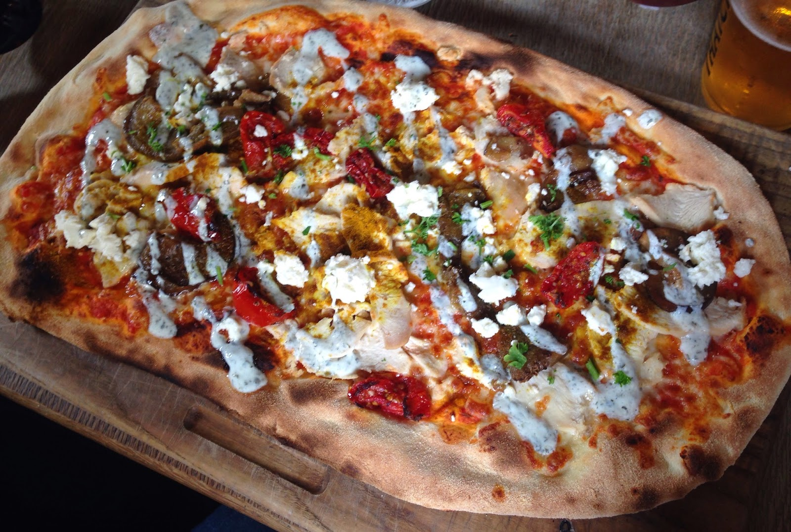 The Mumbai pizza at The Bulls Head, Repton,