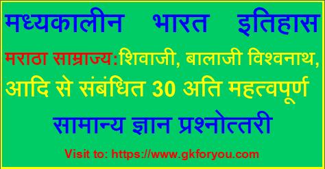 Maratha Empire History in Hindi