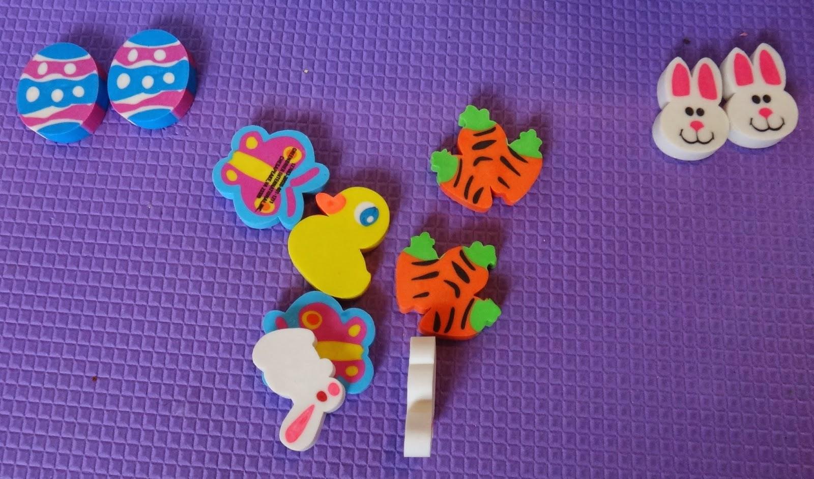 Easter sensory bin eraser matching