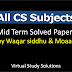 All CS Subjects Mid Term Past Papers Collection