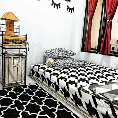 Kamar hitam putih modern