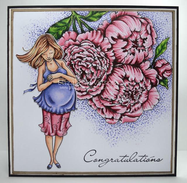 Copic, Mo Manning, PowerPoppy, pregnant, maternity, congratulations, peony, Elizabeth Whisson, Alshandra