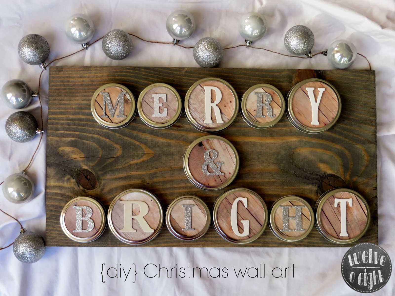 Merry + Bright Rustic Christmas Wall Art