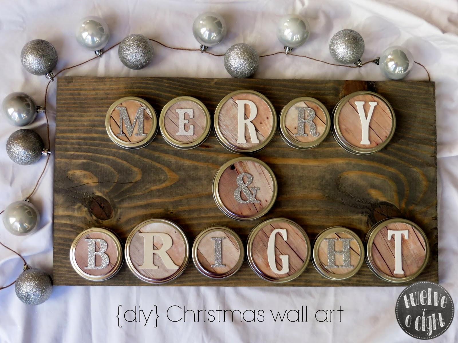 Merry + Bright Rustic Christmas Wall Art