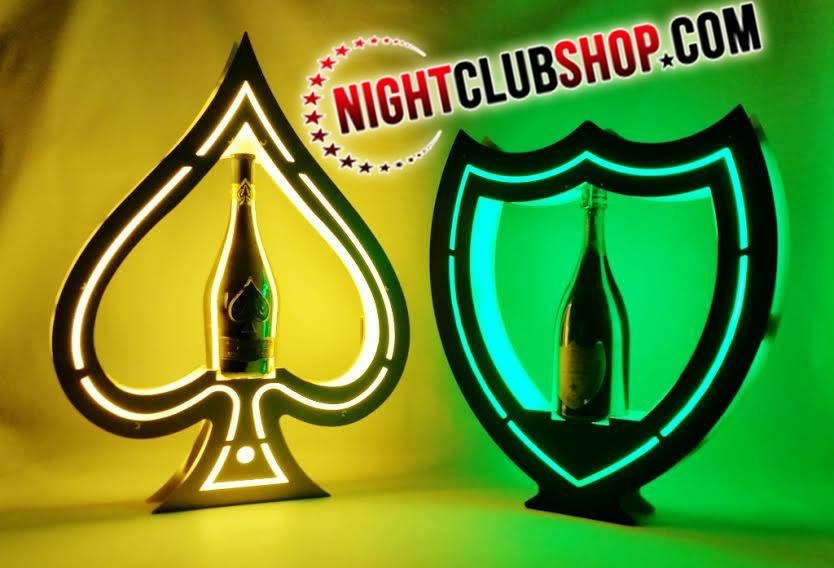 LED VIP ACE of SPADES and DOM SHIELD Champagne Bottle Service