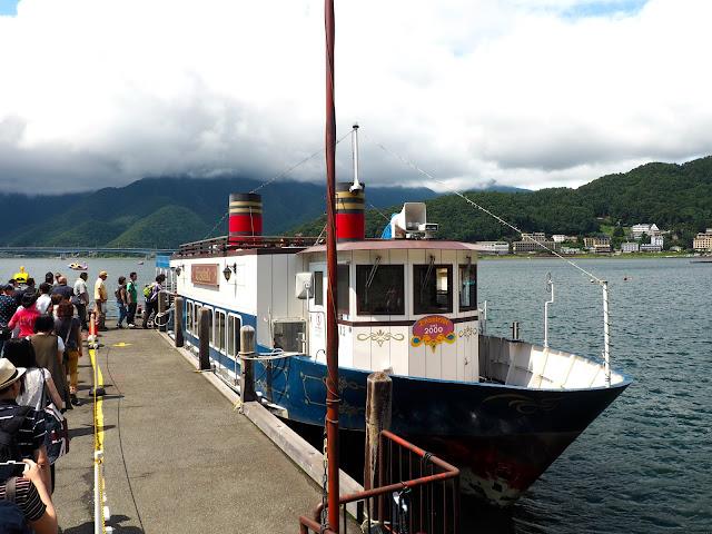 En Soleil boat cruise at Lake Kawaguchiko, Fuji Five Lakes, Japan